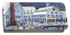Wintertime At Waterville Valley New Hampshire Portable Battery Charger by Nancy Griswold