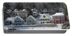 Wintery Alton Bay Nh Portable Battery Charger