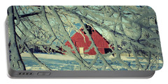 Our Frosty Barn Portable Battery Charger by Julie Hamilton