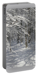 Wintery Woodland Shadows Portable Battery Charger