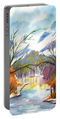 Wintry Reflections Portable Battery Charger