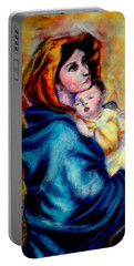 Mondonna Of The Street By Roberto Ferrizzi, Rendition In Pastel Antonia Citrino,  Sold.        Portable Battery Charger