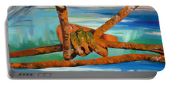 Portable Battery Charger featuring the painting Wire by Daniel Janda