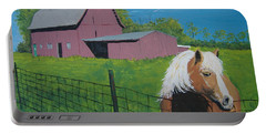 Portable Battery Charger featuring the painting Wisconsin Barn by Norm Starks
