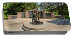 Portable Battery Charger featuring the photograph Wisconsin State Firefighters Memorial 1 by Susan  McMenamin