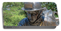 Portable Battery Charger featuring the photograph Wisconsin State Firefighters Memorial 3  by Susan  McMenamin