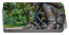 Portable Battery Charger featuring the photograph Wisconsin State Firefighters Memorial 4 by Susan  McMenamin