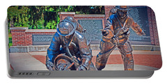 Portable Battery Charger featuring the photograph Wisconsin State Firefighters Memorial Park 2 by Susan  McMenamin