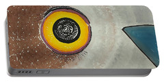 Wise Owl Original Painting Portable Battery Charger by Sol Luckman