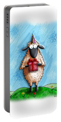 Wishing Ewe  Portable Battery Charger by Gary Bodnar