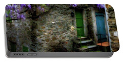 Wisteria On Stone House Portable Battery Charger