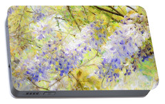 Portable Battery Charger featuring the photograph Wistful Wisteria 1 by Andee Design