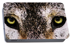 Wolf Eyes By Sharon Cummings Portable Battery Charger by Sharon Cummings