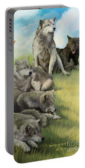 Wolf Gathering Lazy Portable Battery Charger
