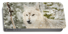 Wolf In Snow Portable Battery Charger