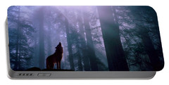 Wolf In The Woods Portable Battery Charger