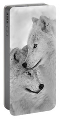 Wolf Love Black And White Portable Battery Charger
