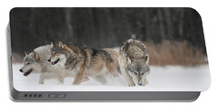 Wolves In Winter Portable Battery Charger