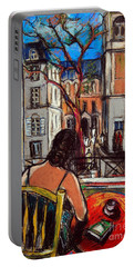 Woman At Window Portable Battery Charger
