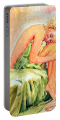 Woman In Blissful Ecstasy Portable Battery Charger