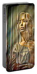 Woman In Glass Portable Battery Charger by Chuck Staley