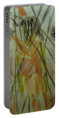 Woman In Sticks Portable Battery Charger