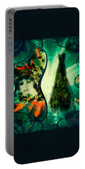 Green Mystery Montage Portable Battery Charger