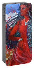 Woman Of The Whispering Wind Portable Battery Charger