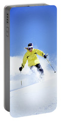 Woman Skiing In The Uinta Mountains Portable Battery Charger