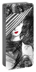 Woman With A Hat Portable Battery Charger