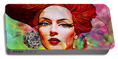 Woman With Earring Portable Battery Charger