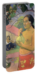 Woman With Mango Portable Battery Charger by Paul Gauguin