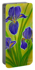 Wonderful Iris Flowers 3 Portable Battery Charger