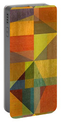 Wood And Angles Portable Battery Charger by Michelle Calkins
