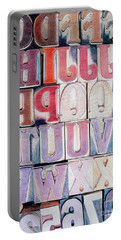 Wood Block Letters Portable Battery Charger