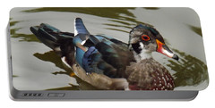 Wood Duck Portable Battery Charger by Brenda Brown
