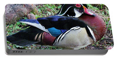 Portable Battery Charger featuring the photograph Wood Duck by Cynthia Guinn