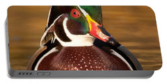 Portable Battery Charger featuring the photograph Wood Duck by Jerry Fornarotto