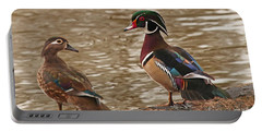 Wood Duck Photo Portable Battery Charger by Luana K Perez