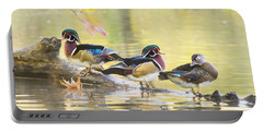 Wood-ducks Panorama Portable Battery Charger