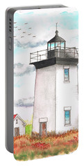 Wood End Lighthouse - Massachusetts Portable Battery Charger by Carlos G Groppa