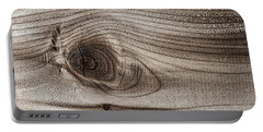 Wood Knot Abstract Portable Battery Charger