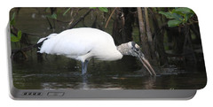 Wood Stork In The Swamp Portable Battery Charger by Christiane Schulze Art And Photography