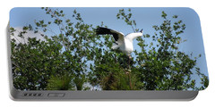 Portable Battery Charger featuring the photograph Wood Stork by Ron Davidson