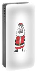 Wooden Leg Santa Portable Battery Charger