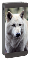 Woodland White Wolf Portable Battery Charger