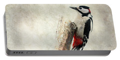 Woodpecker In Nature Portable Battery Charger