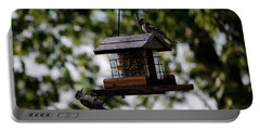 Woodpeckers At Dinner Portable Battery Charger