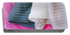 Wool Scarf Portable Battery Charger