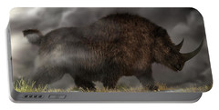 Woolly Rhinoceros Portable Battery Charger